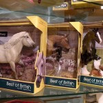 Breyer horses at Village Toy Shoppe in New Hope
