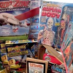 Educational toys including a squishy human body at Village Toy Shoppe in New Hope