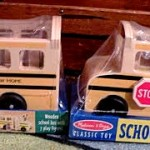 New Hope and Lambertville school busses at Village Toy Shoppe in New Hope